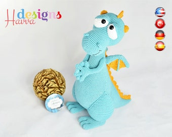 PATTERN - Blummy The Dragon (Amigurumi Crochet)