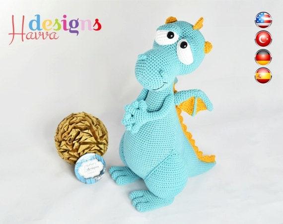 Angel Amigurumi Paso A Paso : MODeLE Blummy le Dragon Amigurumi Crochet