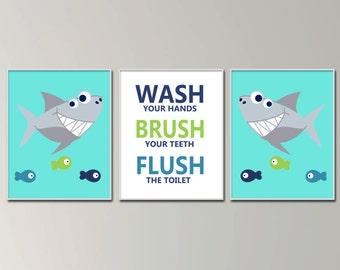 Shark Bathroom Etsy