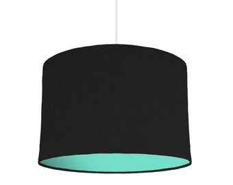 Mix & Match Black lampshade With a Choice Of 28 Lining Colours