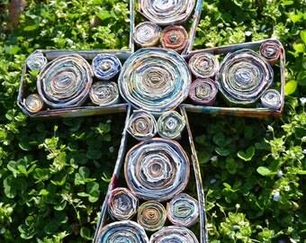 Recycled Magazine Cross