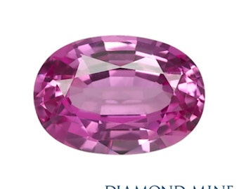 A Beautiful NaturalSapphire 1.02 Pink Oval Extra