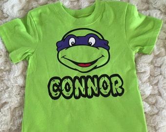 Personalized Ninja Turtle Birthday Shirt