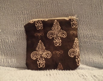 Small Brown Zipper Pouch