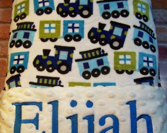 Personalized Baby Blanket Minky Blanket Embroidery personalization is included