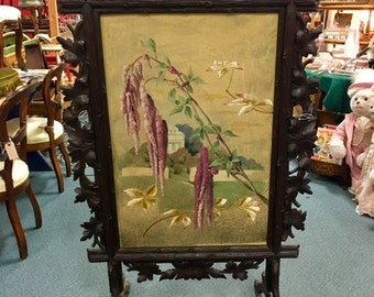 Large Black Forest Fireplace Screen