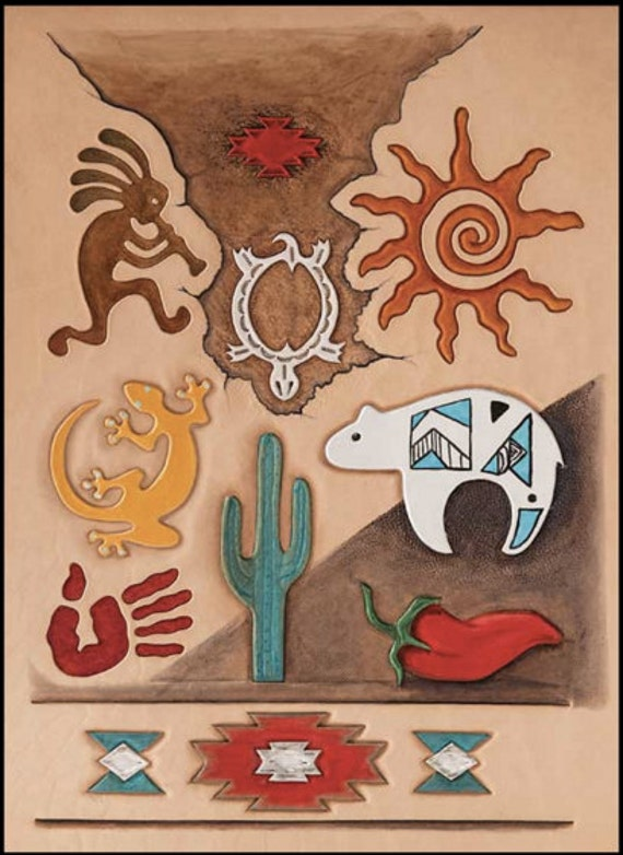 southwest indian leather craft template