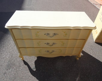 Fab Vintage French Dresser with Three Drawers will Custom Paint to Your Specs