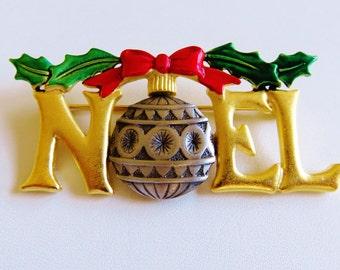 JJ Jonette Noel Christmas Ornament Brooch Pin