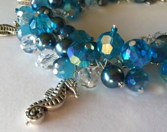 Seahorses Charm Bracelet
