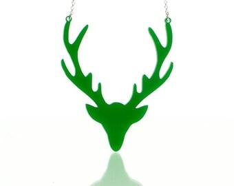 Deer Necklace in Acrylic