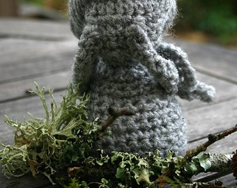 Weeping Angel Inspired Hand Crocheted Figure