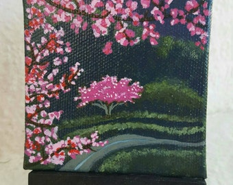 Cherry Blossom Season. Free easel and shipping with purchase.