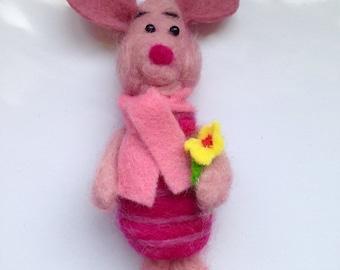 Needle Felted Piglet. Disney Winnie the Pooh