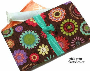 Tampon Holder & Pad Case, Brown Feminine Product Case, Teen Gift, Women's Sanitary Product Holder, Pad Holder, Tampon Wallet, Tampon Bag