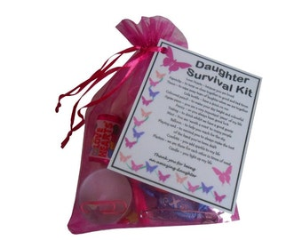 Daughter Survival Kit - Great Birthday Gift For Daughter Gift, Mother Daughter Gift, Gift Daughter Gifts For Daughter - Free UK Shipping