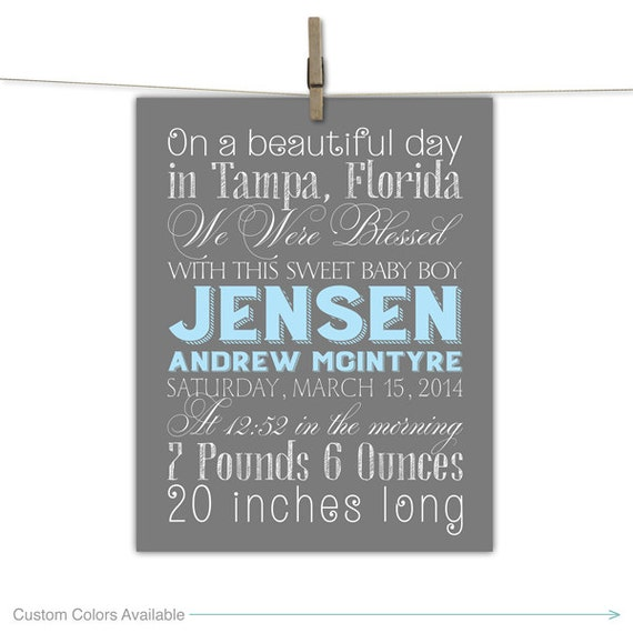 Personalized Baby Gift Ideas Boy : New baby gifts for boys personalized by willowlaneprints