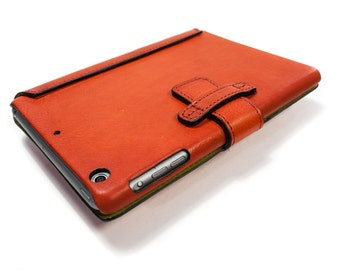 iPad AIR 2 leather case as best protection made by genuine italian leather color to CHOOSE