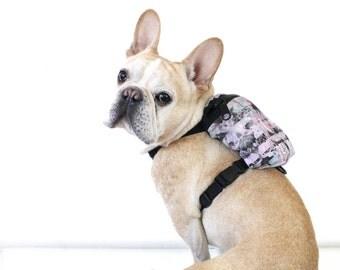 Dog Backpack / Dog Harness - Pastel Print - Pug, Frenchie & More