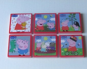 Peppa Pig Party Favors - Peppa Pig Note Pads Set of 6 - Peppa Pig Birthday - Peppa Pig Party Favors - Peppa Pig Mini Note Pads