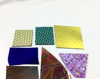 Group C, 4.6 OZ, System 90, Get These Exact Pieces, Dichroic Fusing Glass, Dichroic Scrap, Jewelry Supplies, Stained Glass, Fusing Pendants