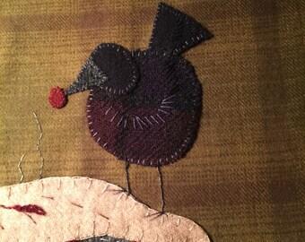 "Cherry pickin ""wool applique pattern"" by Ewe+Us"