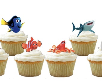 24 Finding Dory Cupcake Toppers