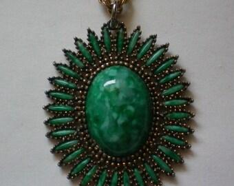 Book Piece ~ Celebrity Southwestern Pendant Necklace - 4735