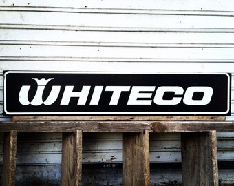Vintage Whiteco Advertisement Wooden Sign