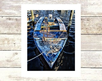 BLUE OYSTER BOAT - Marine Prints - Fine Art Photograph-Limited Edition of 250