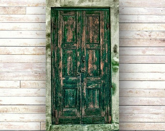 GONE GREEN - New Orleans art - French Quarter Doors - Architecture - Door Photography - Windows