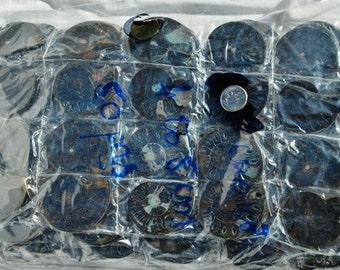 7939a Lot of FIFTY/50 Rare Black Ammonite Pair Crystals Fossil MEDIUM 4-5cm