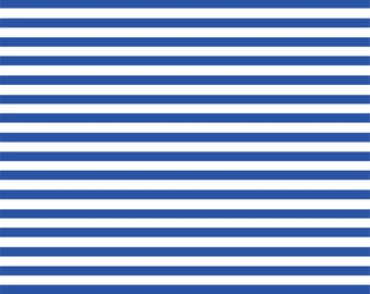 Blue and white stripe craft  vinyl sheet - HTV or Adhesive Vinyl -  stripe pattern HTV3013