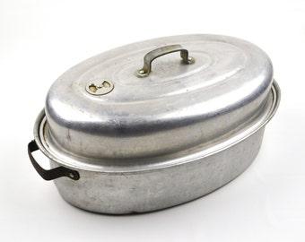Vintage Mirror Aluminum Roasting Pan