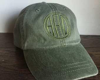 Monogrammed Pigment Dyed Ball Cap