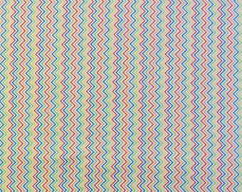 Multi Colored Chevron Fabric Etsy