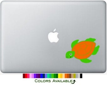 Sea Turtle Laptop Decal