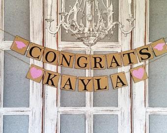 GRADUATION PARTY DECORATIONS, 2017 Congrats sIGNS Commencement. Rustic Graduation Party Decorations
