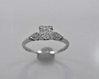 Antique Engagement Ring .70ct. Diamond & Platinum Art Deco - J35607