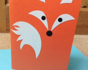 Handmade 'Foxy' greetings card...left blank for your own message