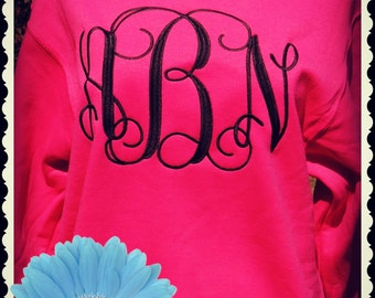 Monogrammed Sweatshirt, Monogrammed Tee shirt, Applique Sweater, BACK TO SCHOOL, Simply Southern , Preppy Shirt