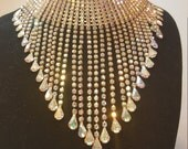 FREE  SHIPPING  Massive Rhinestone Bib Necklace