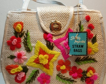 FREE  SHIPPING  Deadstock Straw Handbag