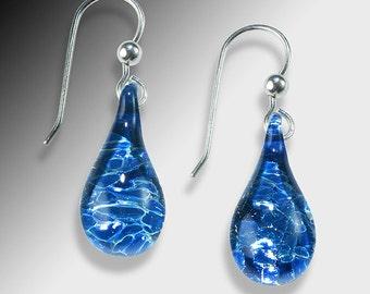 Blown Glass Jewelry-Drop Earrings