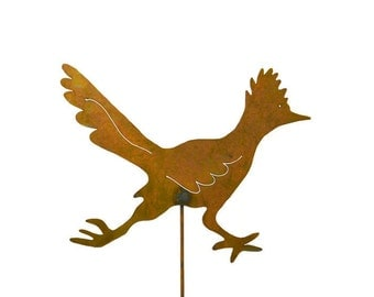 Roadrunner Metal Yard Stake, Garden Art GS78