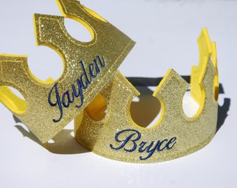 Personalized King Crown/ Knight crown/Prince crown/ Felt crown