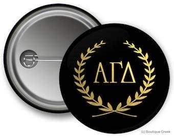 AGD Alpha Gamma Delta Wreath Sorority Greek Button