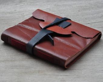 Rustic handmade leather journal
