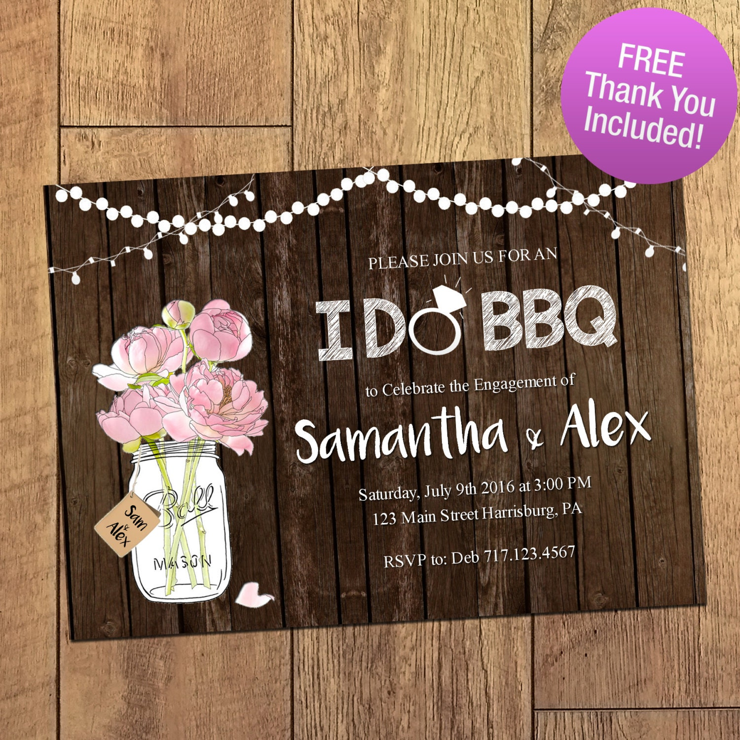 I do bbq invitation rustic mason jar engagement party for Etsy engagement party invites