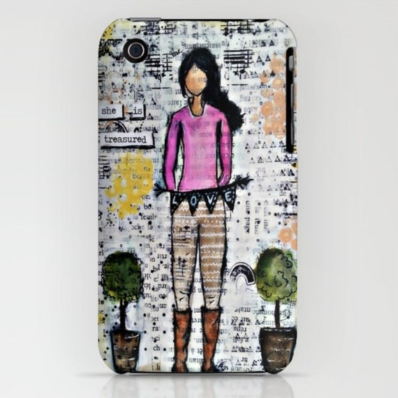 Iphone & Samsung Cases: Mixed media art